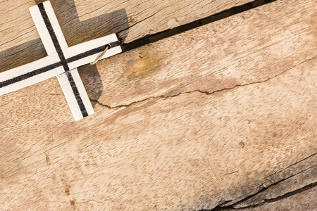 easter cross: Cross the wooden and the afternoon sun. Stock Photo