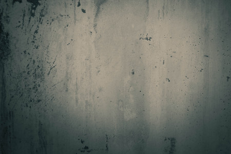 botched: Concrete walls with water stains and paint the walls.