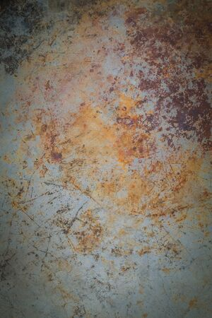 botched: Concrete background with rust stuck.