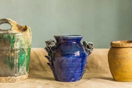 greek pot: The oldest pottery placed on the table. Archivio Fotografico