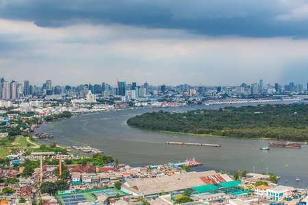 praya: Landscape Chao Praya river in Thailand.