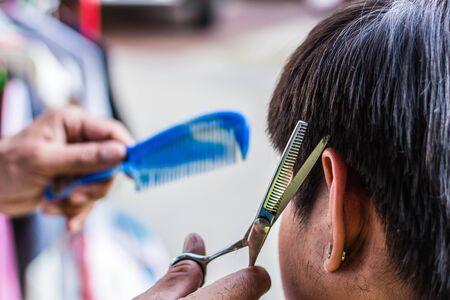 barber scissors: Barber scissors were used for men.