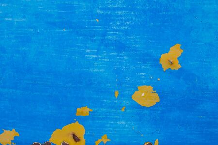 background textures: Surface plates and welded steel blue paint peeling spotty