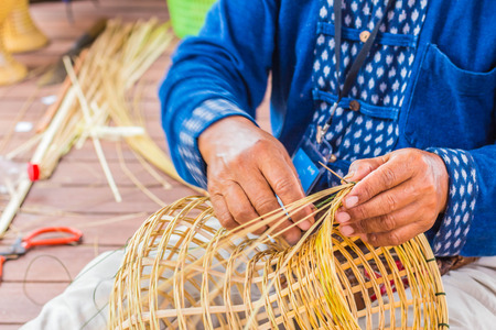 villagers: Villagers are wicker with bamboo.
