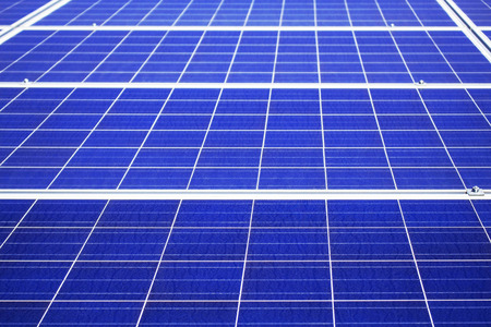 The surface solar panel of a blue.