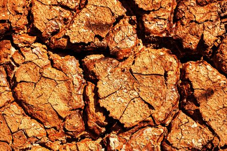 dirtied: The dry cracked ground with warmer weather.
