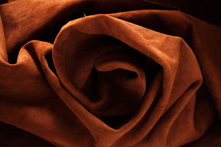 leather of rolls with a surface texture. Standard-Bild