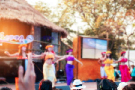 Dance on the outdoor stage of thailand.