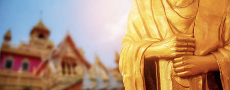 Hand Buddha in the temple of Thailand.