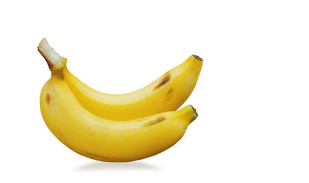 Banana of ripe on a white background.