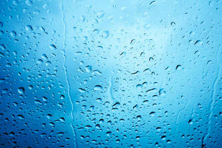 Water drops on glass and refreshing in the rainy season. Standard-Bild
