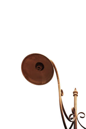 Old lamp on a white background. Standard-Bild