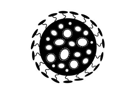 Black of virus on isolated background Standard-Bild