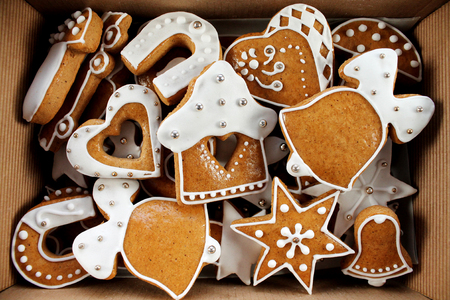 hause: Christmas gingerbread handmade in paper box
