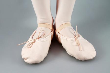 zapatillas ballet: Primer plano de una zapatillas de ballet