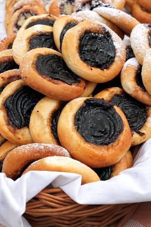 republik: Fresh baked for sale at the traditional market, Czech Republik