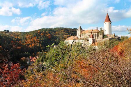 Krivoklat Castle, Czech Republic 免版税图像