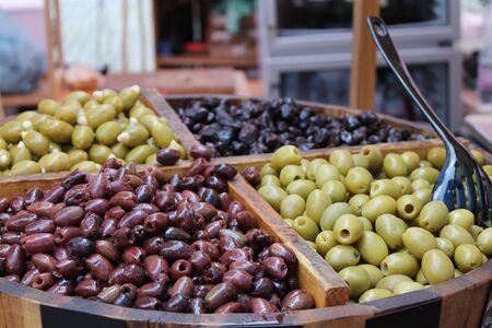 mediterranean culture: Olive at a market