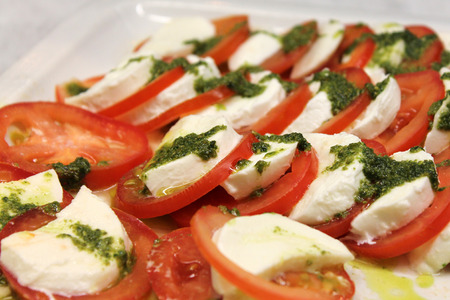 caprese: Caprese Salad. Tomato And Mozzarella