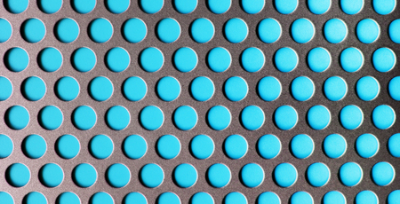 metall texture: Blue Metall Perforated Texture Abstract Pattern