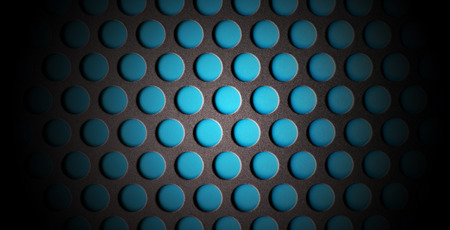 perforated: Blue Metall Perforated Texture Abstract Pattern