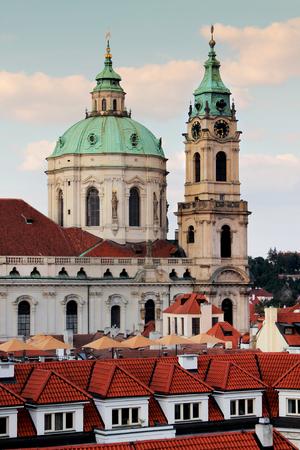 st nicholas cathedral: Prague, st nicholas cathedral Stock Photo