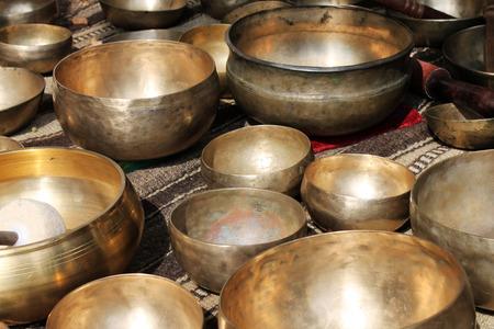 tibet bowls: Singing tibet bowl - cup of life Stock Photo
