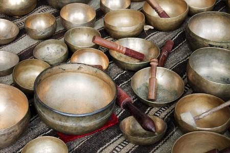 Singing tibet bowl - cup of life 免版税图像