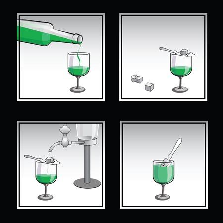 liqueur: Preparation of absinthe liqueur
