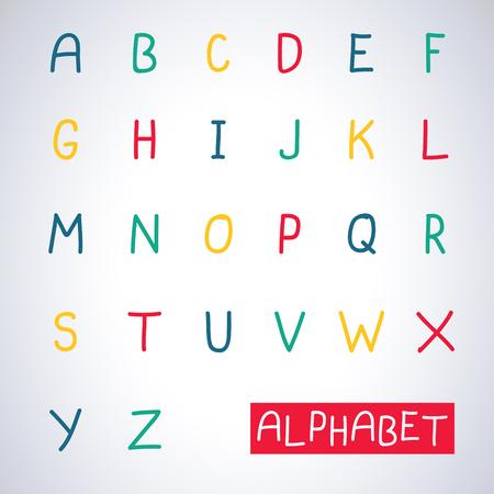 Main Couleur alphabet dessiné Banque d'images - 54614538