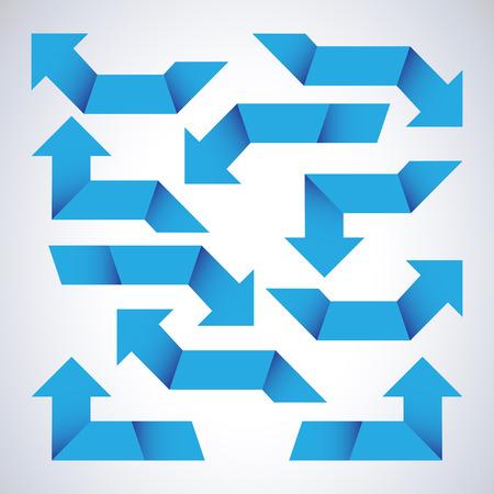 upward movements: Set of blue arrows
