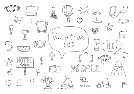 air baloon: Doodle vacation set