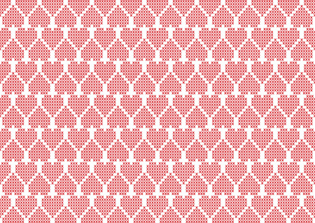 purl: Embroidery hearts background Illustration