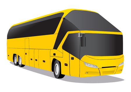 remote view: Yellow bus Neoplan Illustration