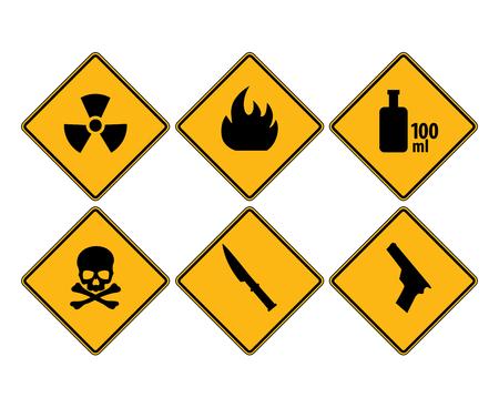 interdiction: icônes d'interdiction (panneaux de signalisation) Illustration
