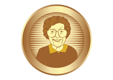 aging process: Vector illustration of Senior woman