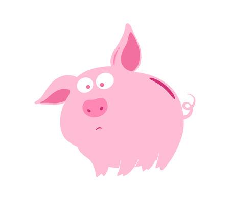 mournful: sad pig