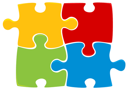 puzzling: Colorful puzzle Illustration