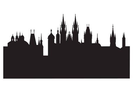 プラハのシルエット