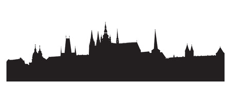 Silhouette of Prague