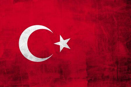 Grunge Drapeau Turquie sur le mur de béton