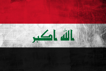 iraq flag: Iraq Flag on the concrete wall