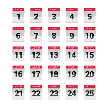 advent calendar: Christmas Advent Calendar, vector illustration