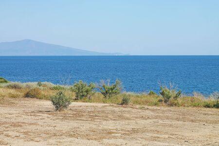 A coast of Aegean Sea near Nea Paramos.