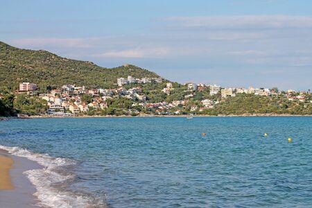 A coast of Aegean Sea Near Paleo Tsifliki village. Greece