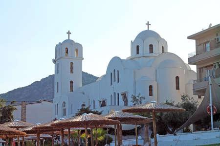View of Church of Palio Kavala. Greece. 新闻类图片