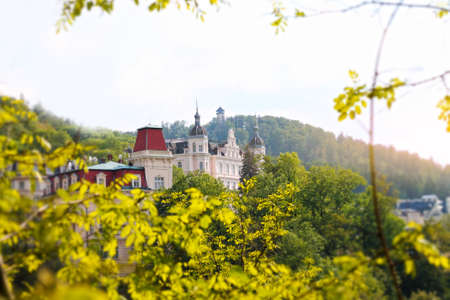Romantic view of Karlovy Vary, Czech Republic