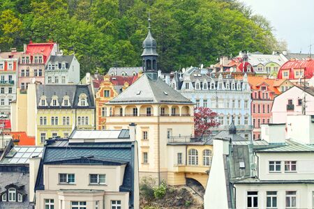 View of center city Karlovy Vary (Carlsbad). Czech Republic.