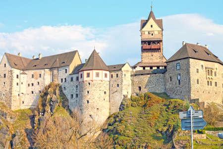 View of Loket castle near Karlovy Vary. Czech Republic.