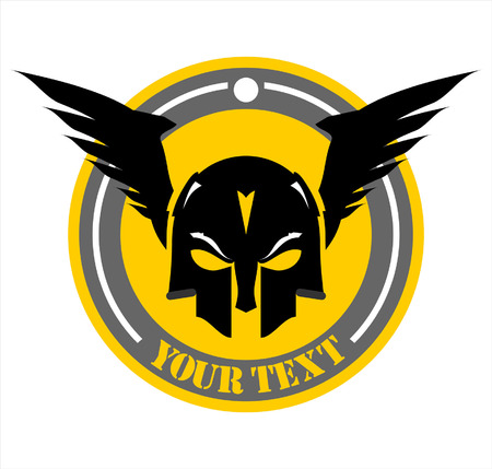 suitable for team identity, mascot, insignia, embellishment, emblem, illustration  etc Ilustração